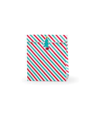 """3 подаръчни торбички """"Merry Xmas"""" на червени и зелени райета– Merry Xmas Collection"""
