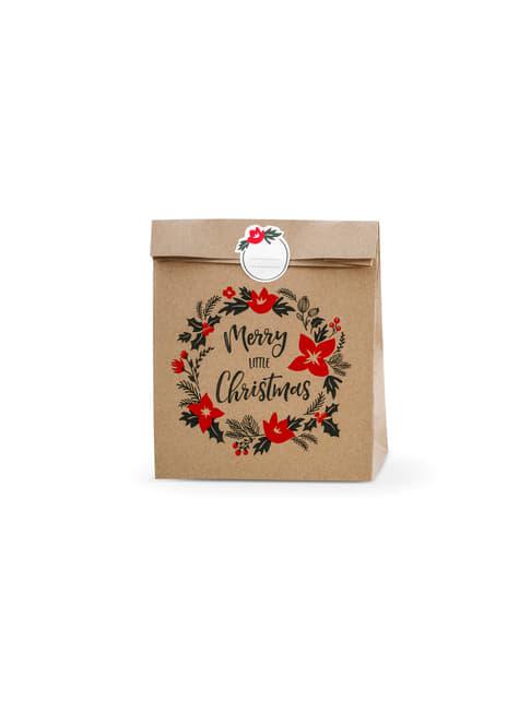 3 bolsas de regalo de papel Kraft