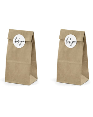 6 Kraft Paper Treat Bags with