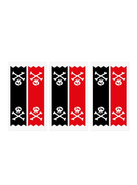 6 bolsas piratas de papel Kraft con pegatinas piratas - Piratas Party - para tus fiestas