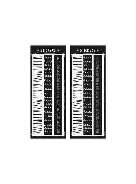 6 sacchetti con stampa nera di carta - Black & White