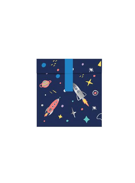 6 sacchetti con stampa multicolor a tema spazio di carta - Space party