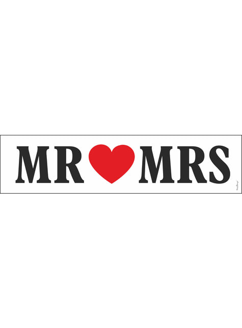 """Svatební poznávací značka na auto """"Mr Mrs"""""""