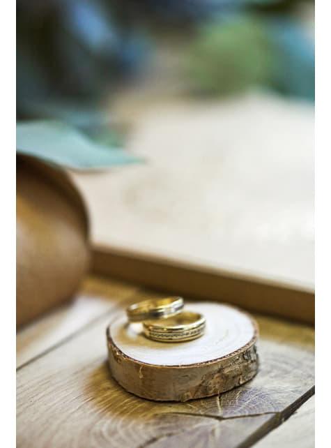 20 étiquettes porte-noms effet rondin de bois - Rustic Wedding