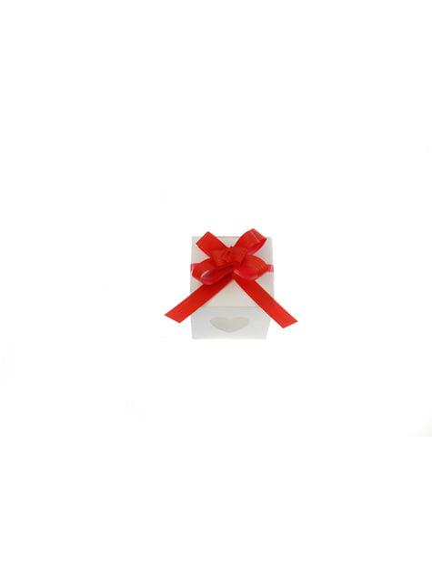 50 fitas com laço vermelho (1 cm)