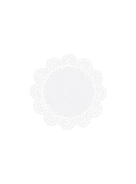 10 marcasitios para mesa redondos blancas de papel - First Communion