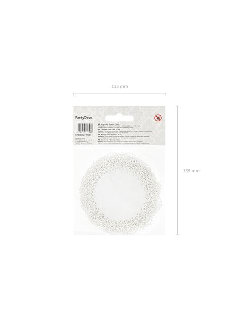 10 étiquettes porte-noms rondes blanches en papier - First Communion