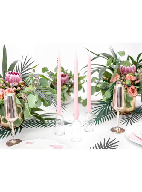21 hojas tropicales decorativas - Aloha Turquoise - para tus fiestas