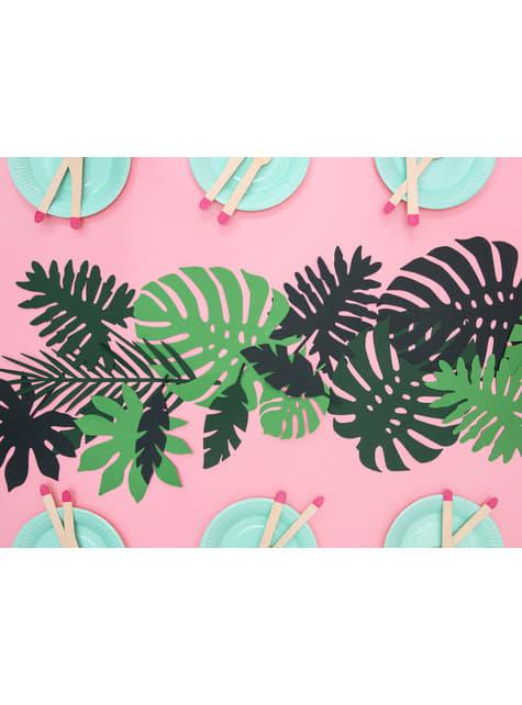 21 hojas tropicales decorativas - Aloha Turquoise - comprar