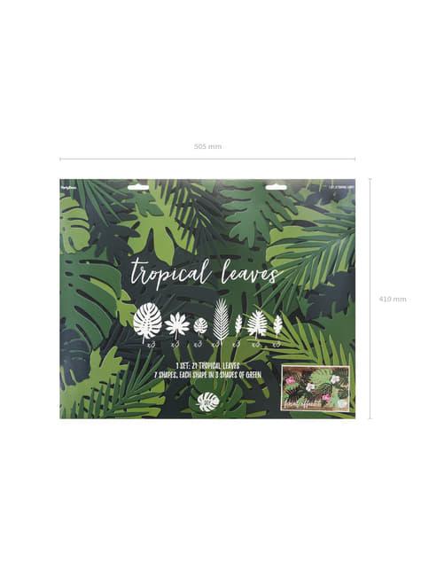 21 hojas tropicales decorativas - Aloha Turquoise - original