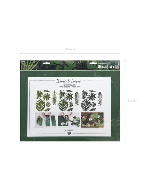 21 hojas tropicales decorativas - Aloha Turquoise - celebra cualquier ocasión