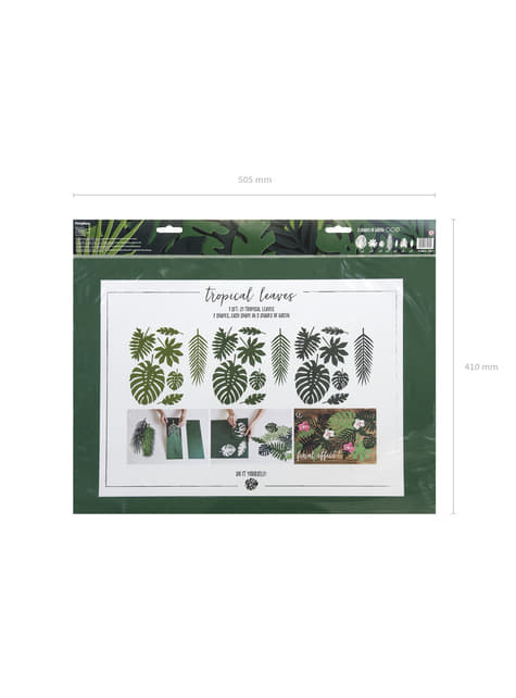 21 tropical decorative leaves - Aloha Collection
