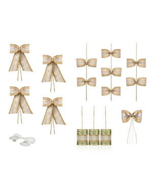 Deluxe raffia kit for bridal car
