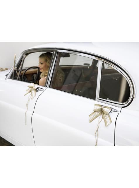 Kit rafia deluxe para coche de novios - comprar