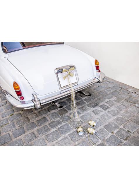 Kit rafia deluxe para coche de novios - original
