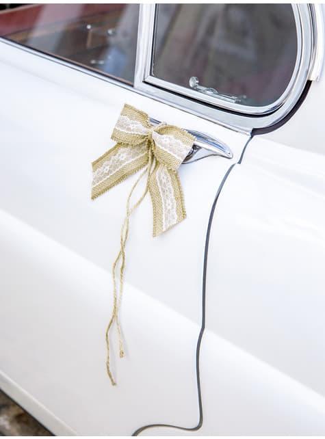 Kit rafia deluxe para coche de novios - el más divertido