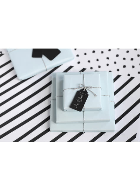 6 etiquetas negras rectangulares de papel