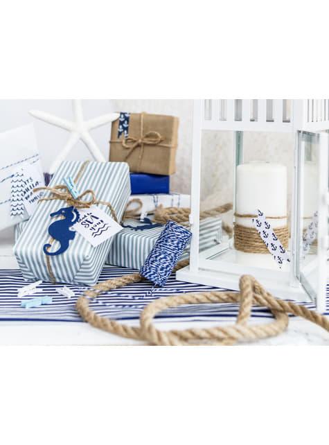 6 etiquetas marinas de papel - Ahoy! Collection