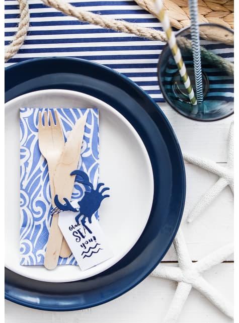 6 etiquetas marinas de papel - Ahoy! Collection - para tus fiestas