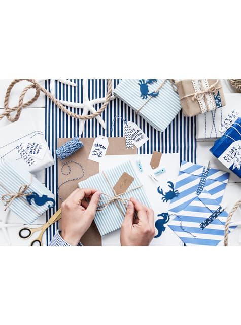 6 etiquetas marinas de papel - Ahoy! Collection - comprar