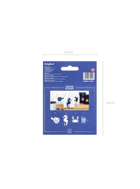 6 etiquetas marinas de papel - Ahoy! Collection - para niños y adultos