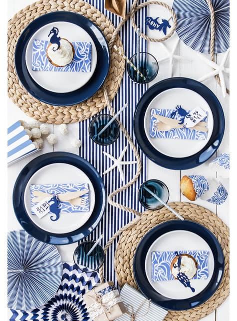 6 etiquetas marinas de papel - Ahoy! Collection - original
