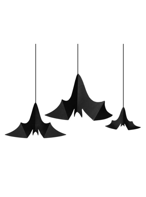 3 colgantes decorativos de murciélagos - Halloween - original