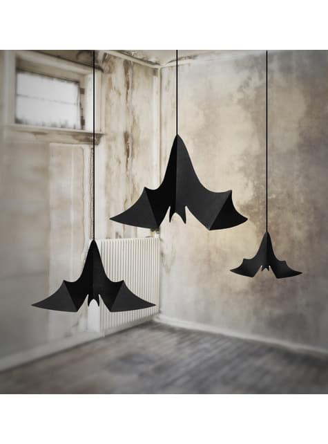 3 colgantes decorativos de murciélagos - Halloween - barato