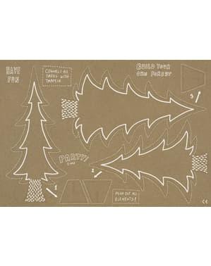 Kraftpapier Tafel Decoratie set - Woodland