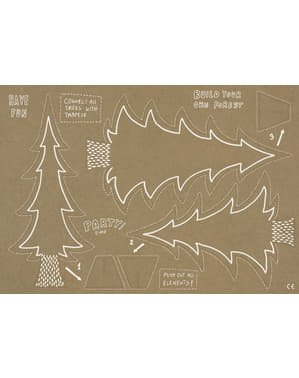 Kağıt Kraft Masa Dekorasyon Takımı - Woodland
