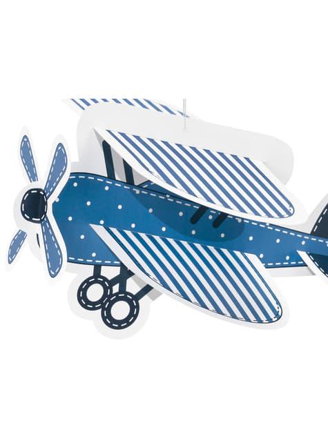 4 guirnaldas colgantes con nubes y avión de papel - Little Plane - para tus fiestas