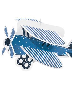 4 roikkuvaa pilvi & lentokone paperikoristetta - Little Plane