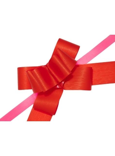 10 rubans nœud rouges de 5 cm