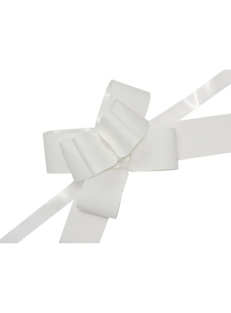 10 biała kokarda 5cm