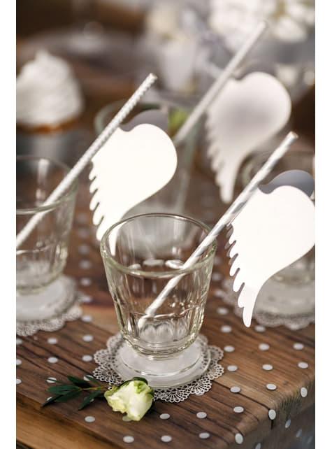 10 decorações para copo com forma de asas de papel