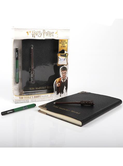 Diario de Tom Riddle con bolígrafo tinta invisible - Harry Potter - oficial