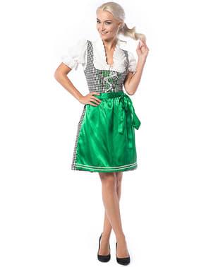 Dirndl Oktoberfest avec tablier rouge femme