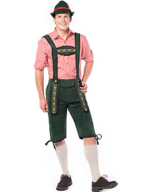 Lederhose Oktoberfest verde para hombre