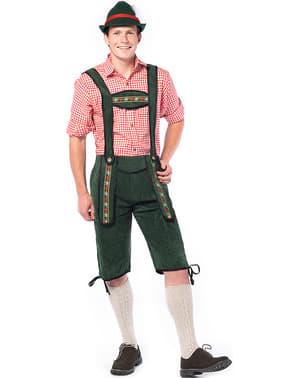 Lederhose Oktoberfest verde para homem