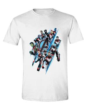 חולצת הנוקמים לגברים, לבן - מארוול