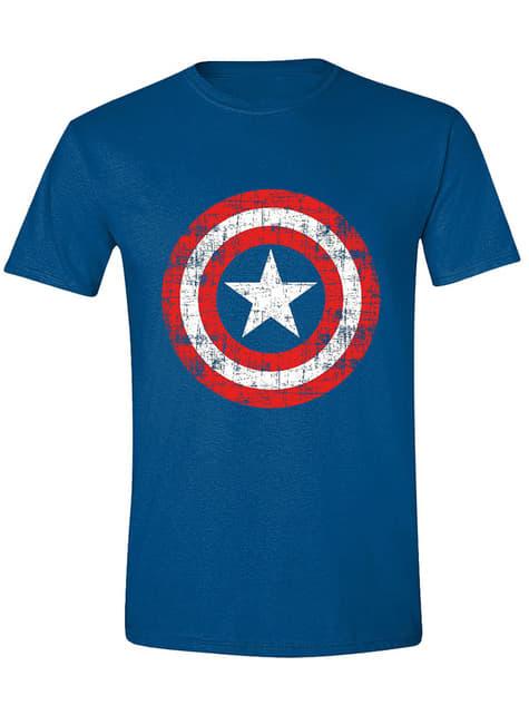 Camiseta Capitán América logo para hombre - Los Vengadores