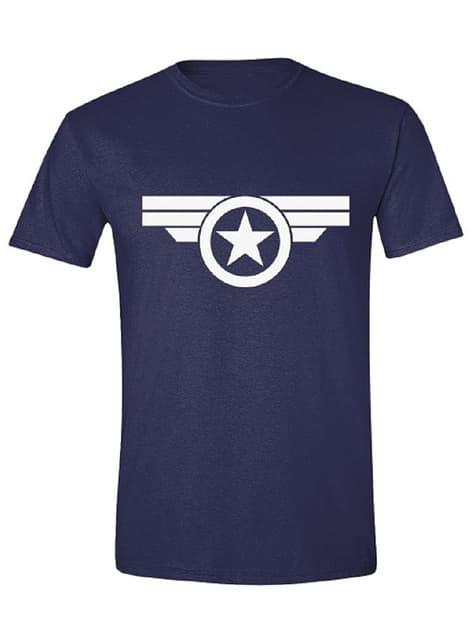 Camiseta Capitán América azul para hombre - Los Vengadores