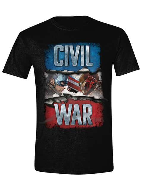 Captain America Civil War T-Shirt for Men - The Avengers
