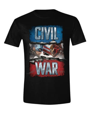 Captain America Civil T-shirt til mænd - The Avengers