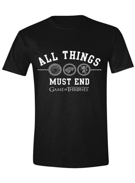 Camiseta Juego de Tronos All Things Must End para hombre
