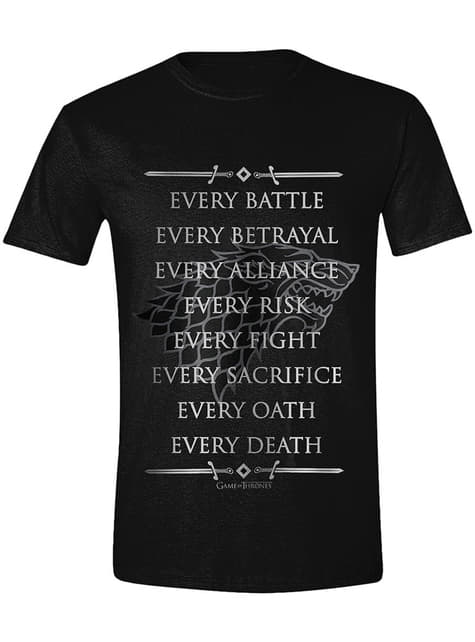 T-shirt Game of Thrones Every Fight Men homme