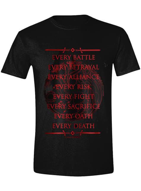 Camiseta Juego de Tronos juramento de la Guardia de la Noche para hombre