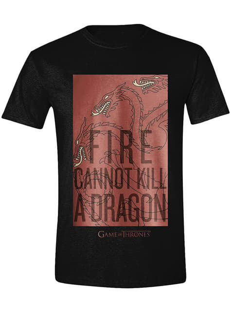 T-shirt Game of Thrones dragons homme