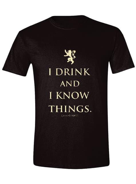 Camiseta Juego de Tronos I Drink And I Know Things para hombre