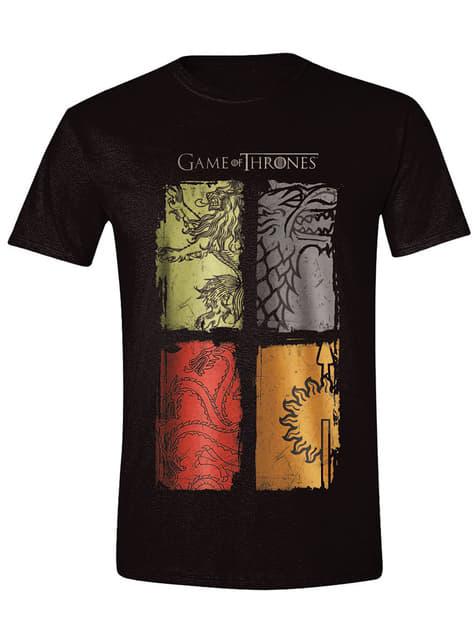 Camiseta Juego de Tronos Emblemas Casas colores para hombre